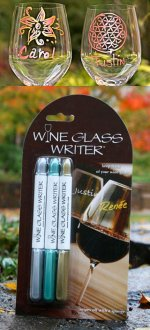Kerr Farm Wine Metalic Wine Glass Writers