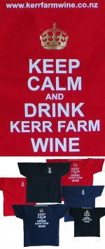 Cool new Kerr Farm Wine T Shirts. Keep Calm